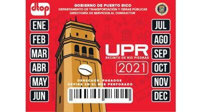Marbete 2021 Puerto Rico - enero 15 2021