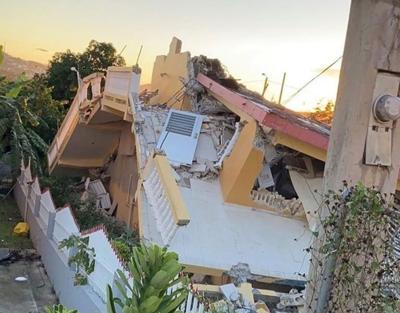 Vivienda - destruida - terremoto - enero 8 2019