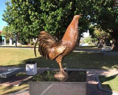 Gallo - estatua - Capitolio - Senado - Foto suministrada - junio 5 2019