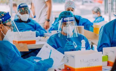 Covid - pruebas - muestras - virus - empleados - Foto suministrada - febrero 19 2021