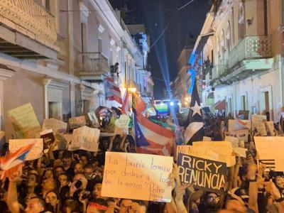 Protesta noche