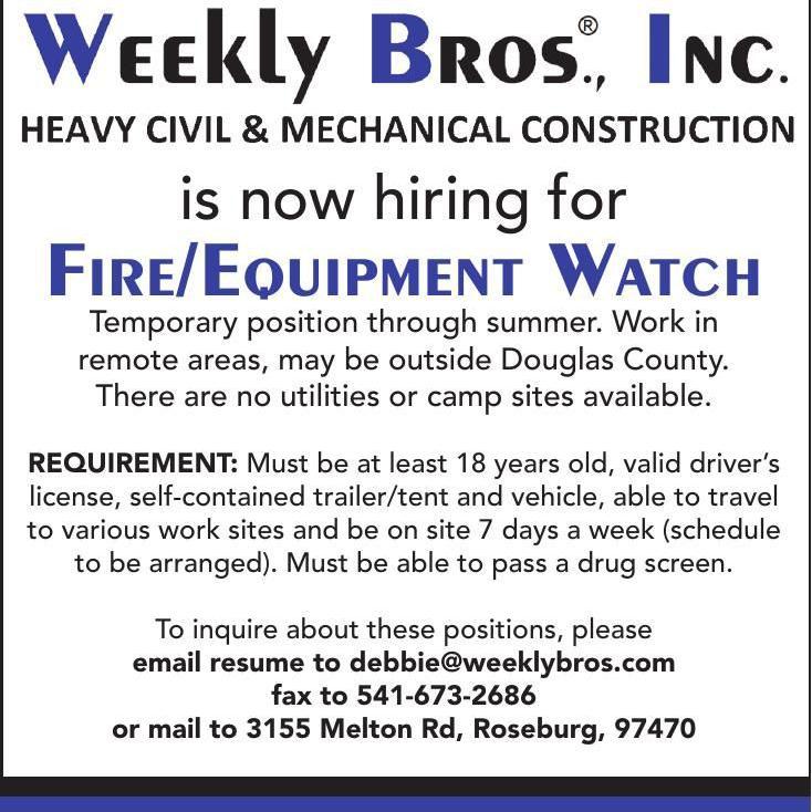 Fire/Equipment Watch