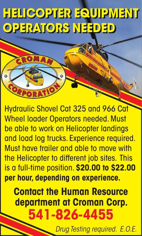 HELICOPTER EQUIPMENT OPERATOR