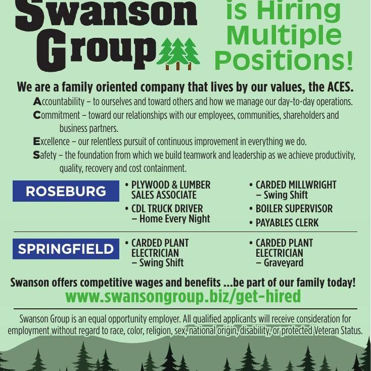 Swanson Group is Hiring