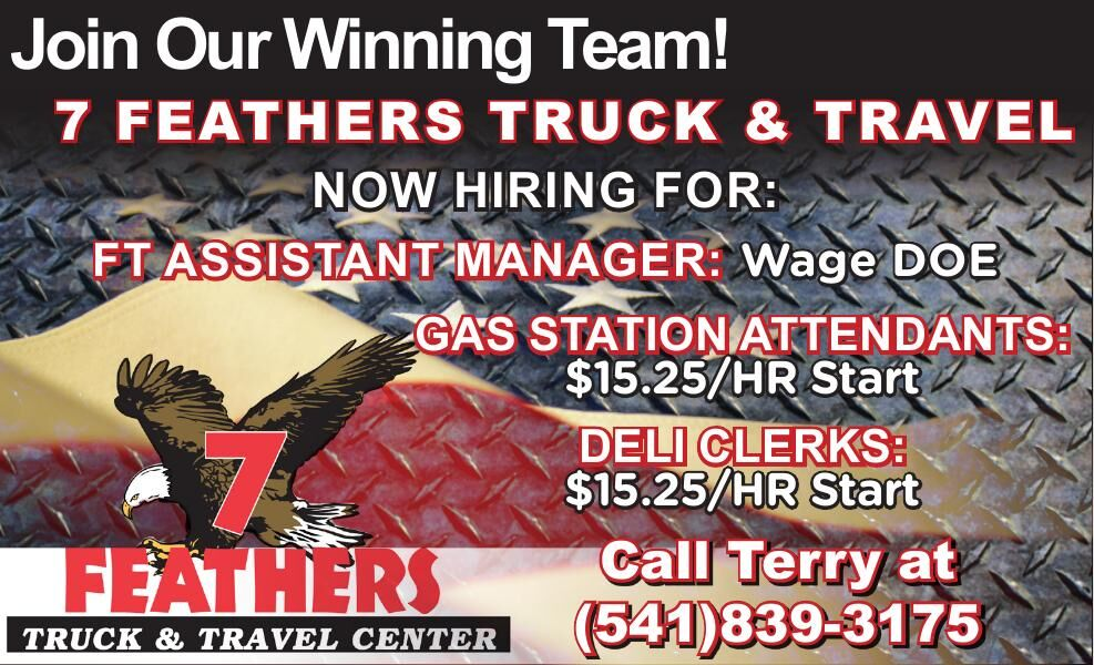 7 FEATHERS TRUCK & TRAVEL NOW HIRING