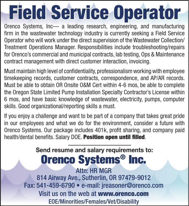 Field Service Operator