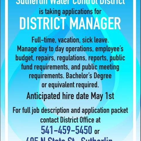 Sutherlin Water Control District