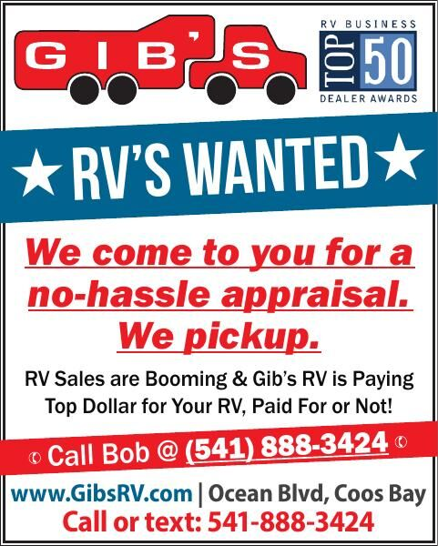 RV's Wanted