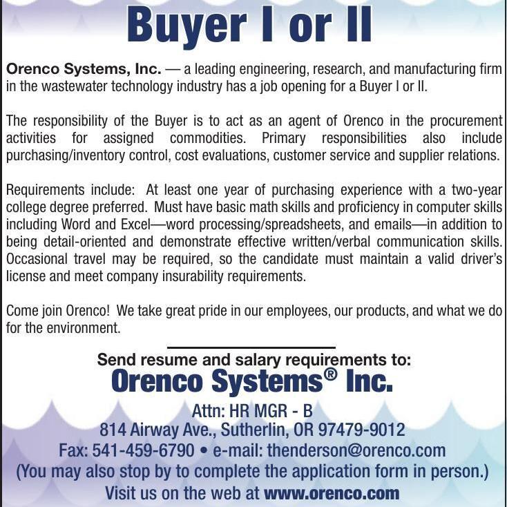 Orenco - Buyer I or II
