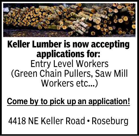 Keller Lumber is now accepting