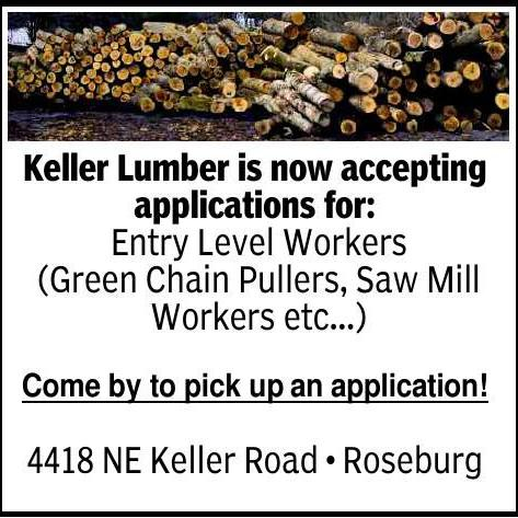 Keller Lumber is now accepting