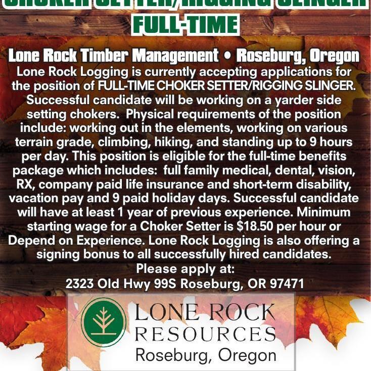 Lone Rock CHOKER SETTER/RIGGING SLINGER