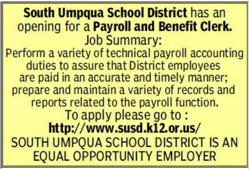 Payroll And Benefit Clerk