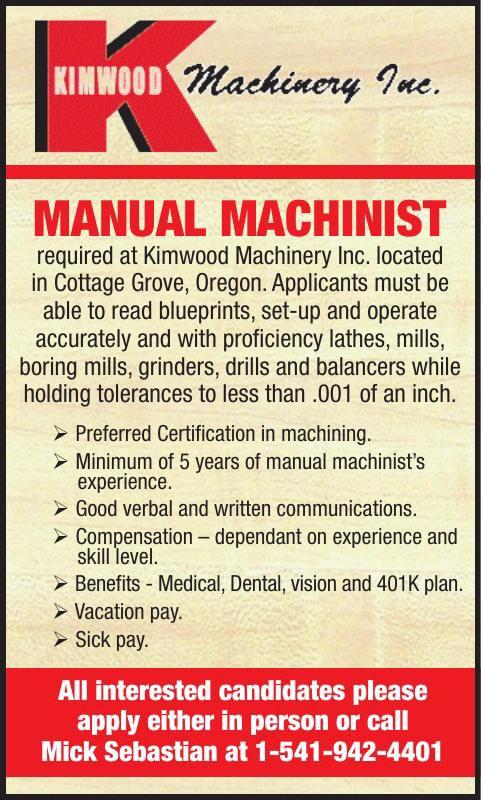 MANUAL MACHINIST