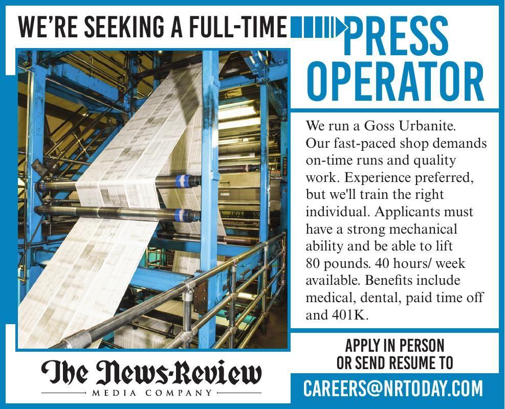 News Review Press Operator