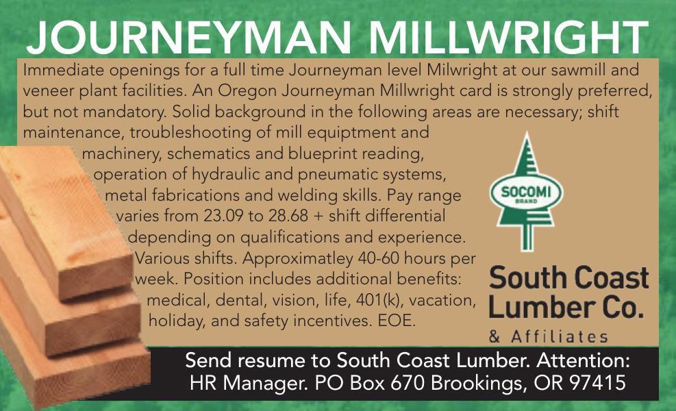 JOURNEYMAN MILLWRIGHT