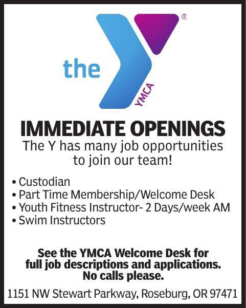 IMMEDIATE OPENINGS at YMCA