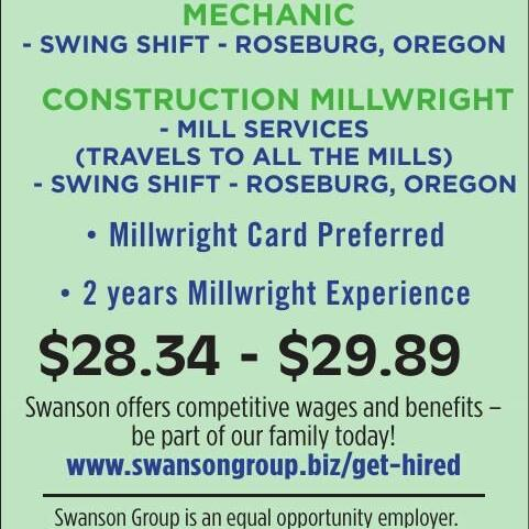SWANSON GROUP IS NOW HIRING!