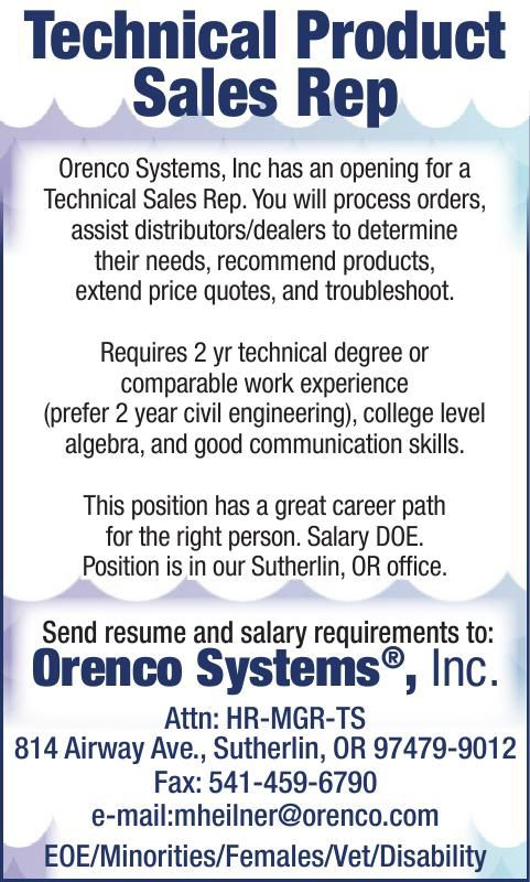 Technical Product Sales Rep