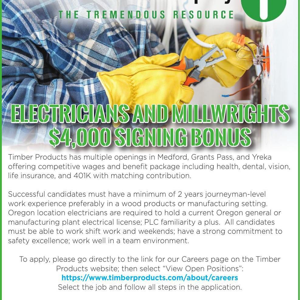 Electricians and Millwrights