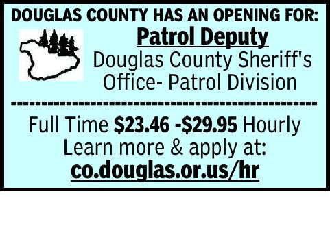 DOUGLAS COUNTY HAS AN OPENING FOR: