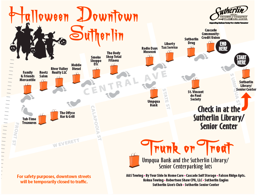 Sutherlin Halloween Downtown and Trunk or Treat