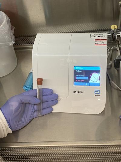 Abbott ID NOW COVID-19 rapid testing machine