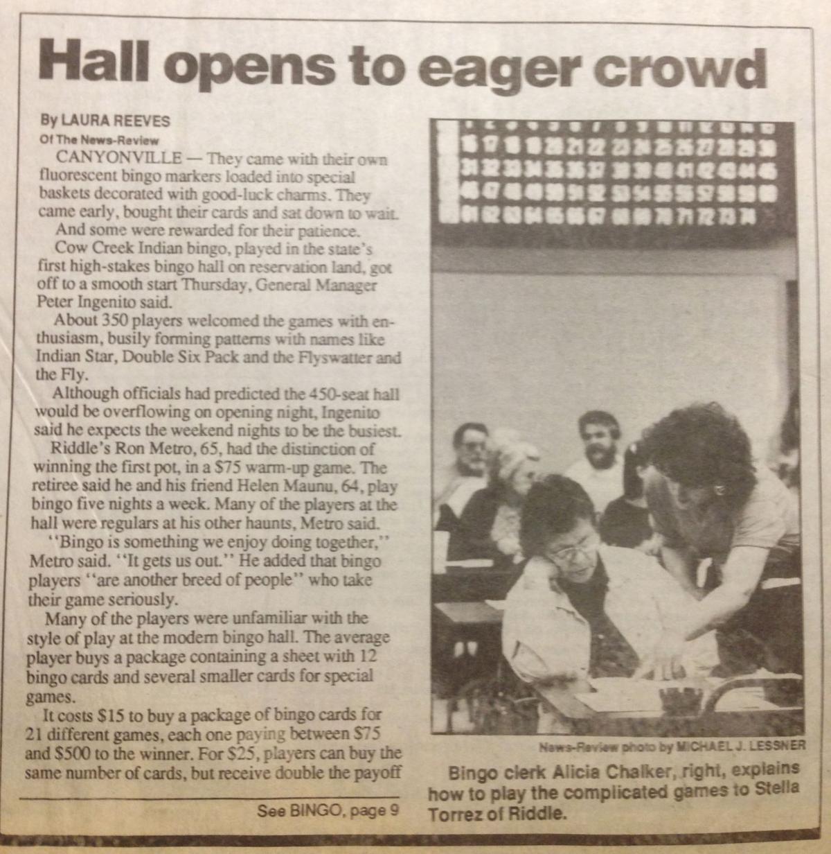 Canyonville Bingo Hall opening, pt. 1
