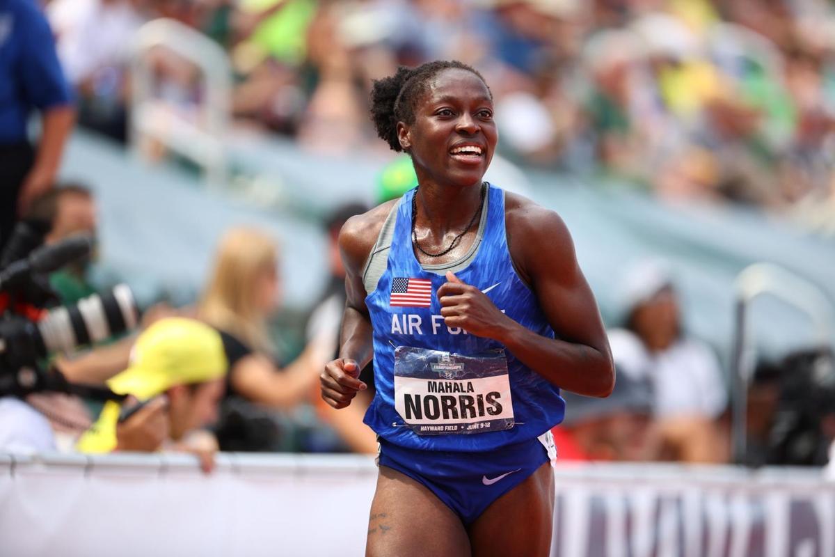 Mahala Norris after race