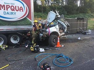 Accident that shut down I-5 Friday caused by stopped traffic