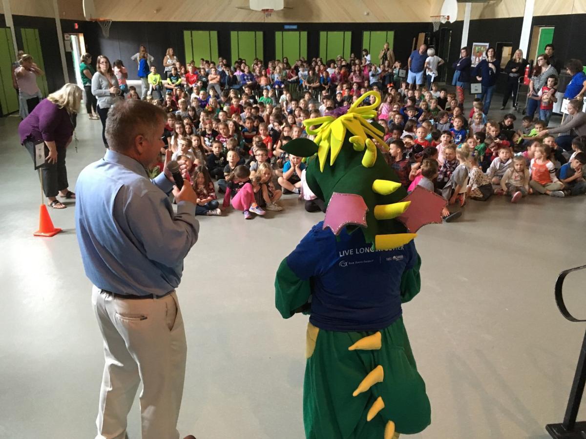 Robert Freeman at Green School assembly