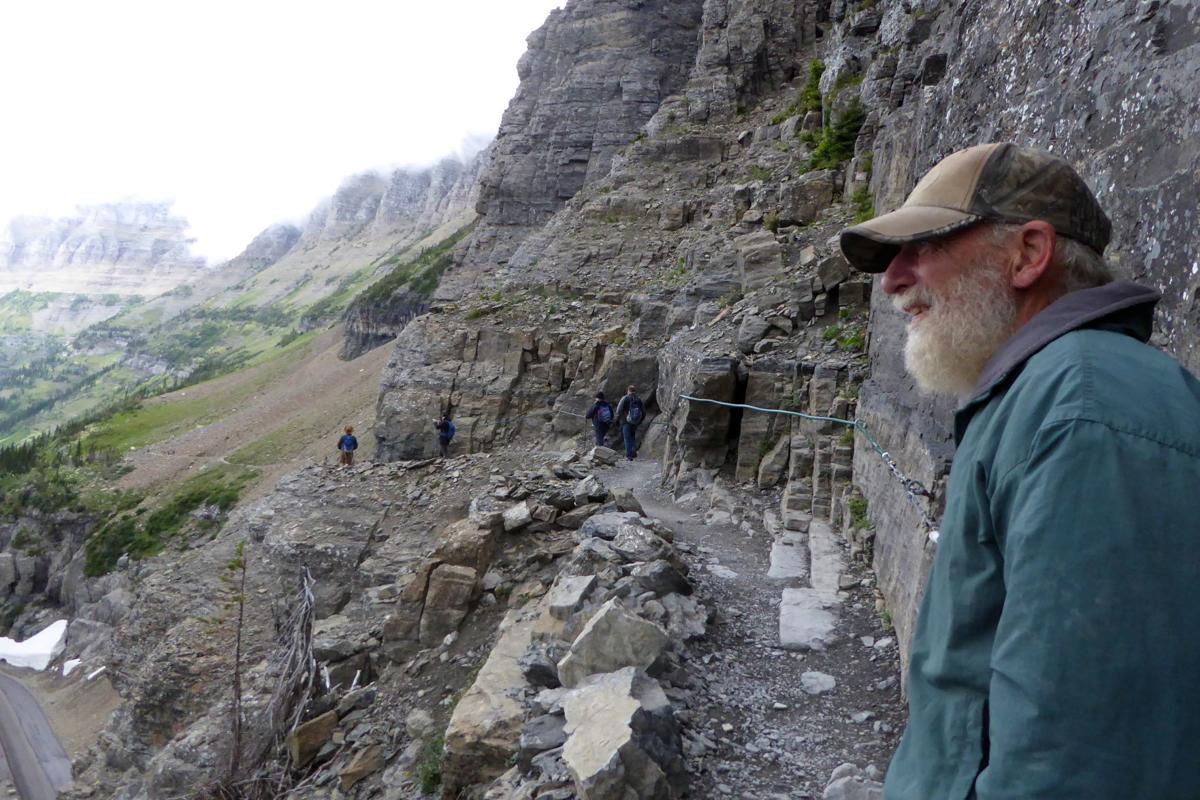 2019-07-24 04_ Mark on Highline Trail near Logan Pass in Glacier NP.JPG