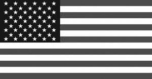 Veteran Flag — Obituary B&W