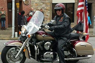 Marshall Hitt on his motorcycle