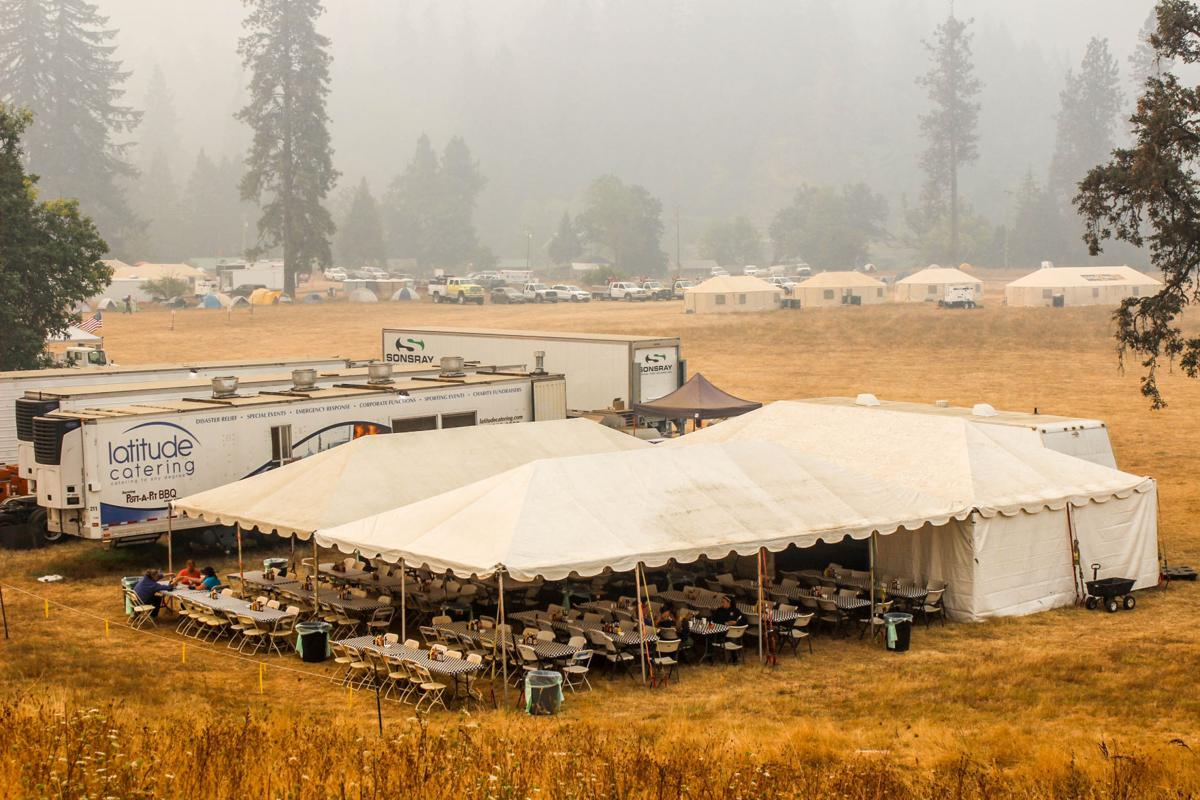 A Fire Camp Is Almost Mini City