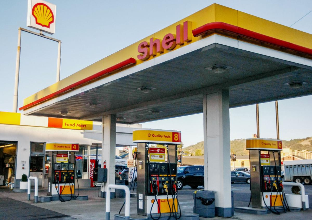 shell gas (never mind that chevron and texaco are now the same company)  so, there  were all brands of gas stations in our city, and i imagine that every driver of every .