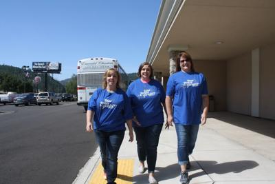 Andree Sizemore, Angie Brownson, and Kim Rencher of the Douglas ESD