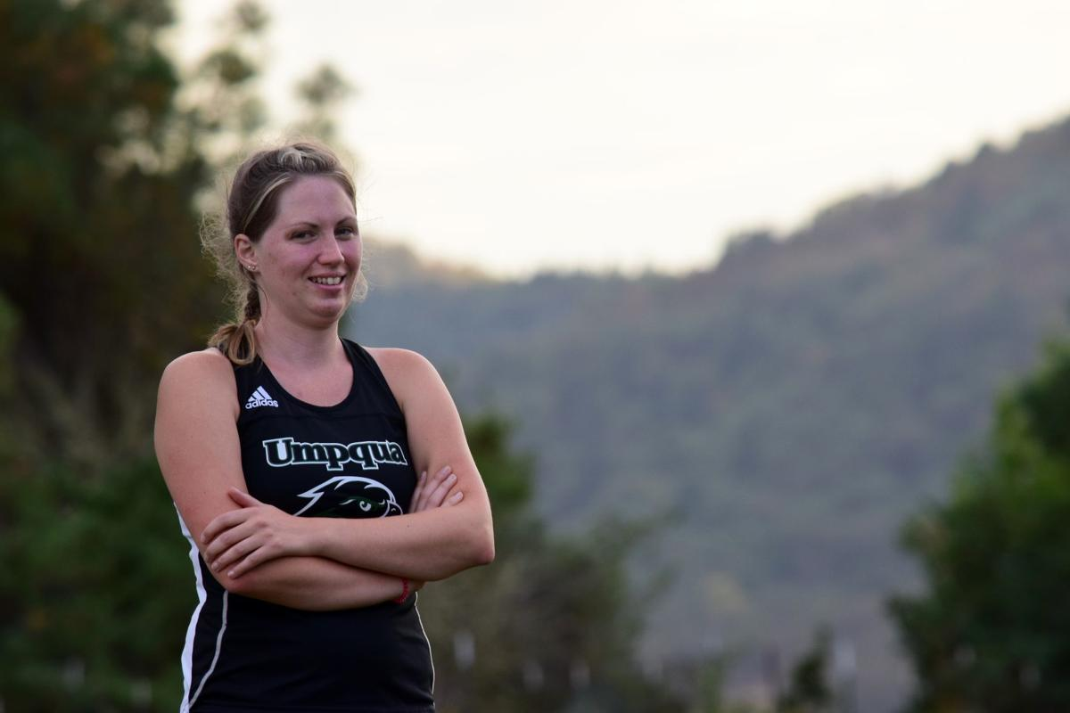 Umpqua Community College's Melinda Broadsword has returned to college at age 33 to compete on the UCC cross country team.