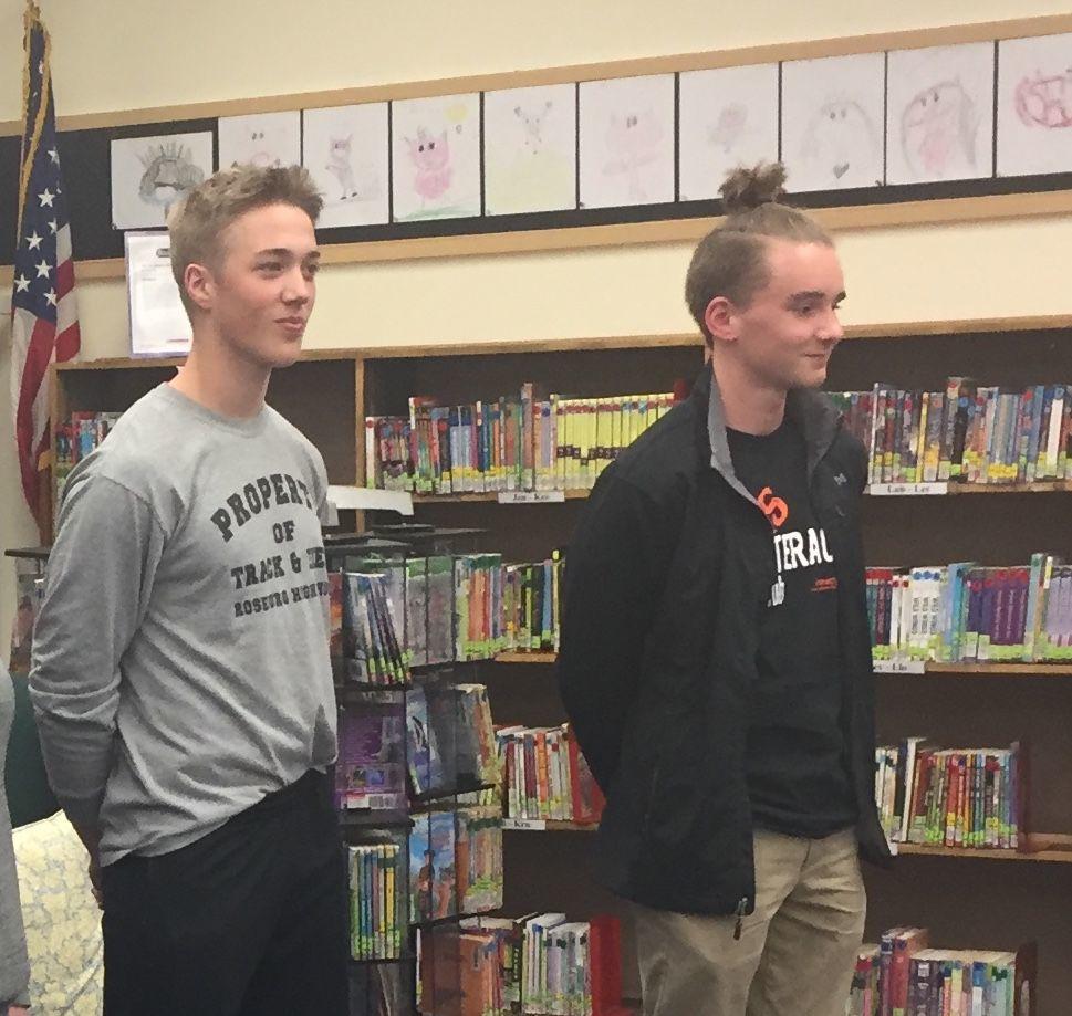 Finn Fluegel and Zachary Traul at Fir Grove School