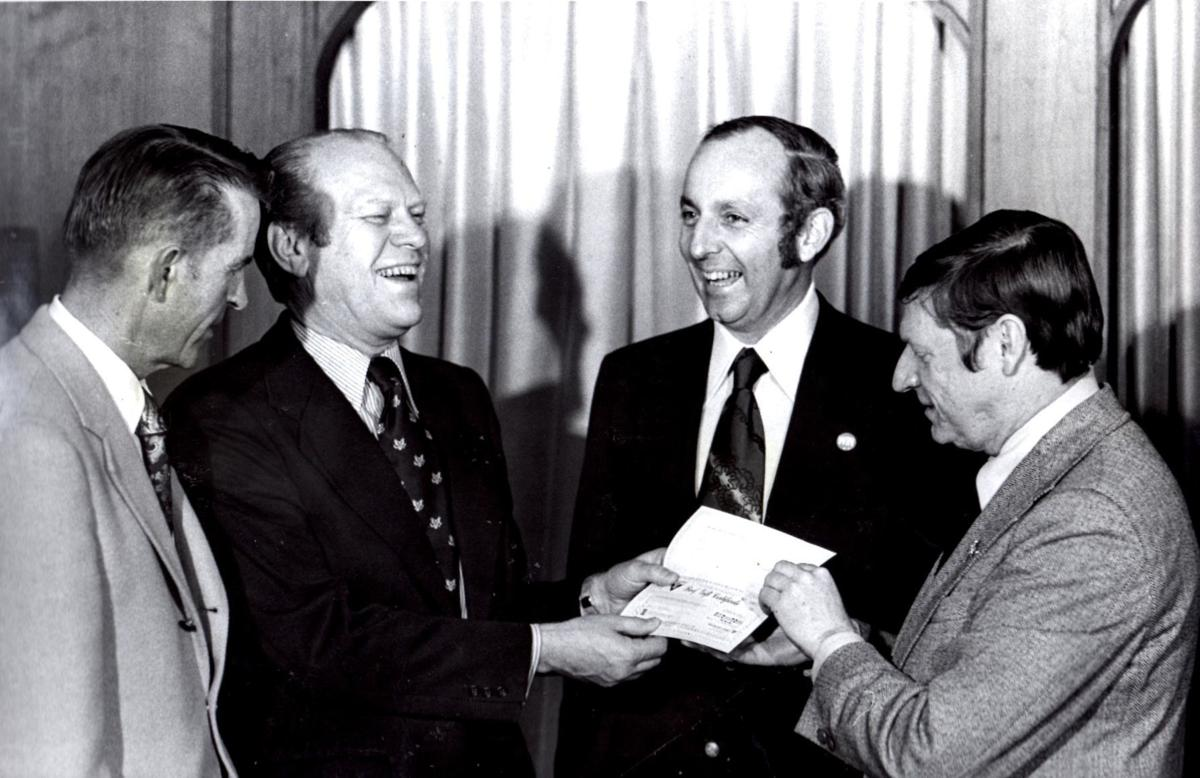 Dick Nichols  with President Gerald Ford in 1974