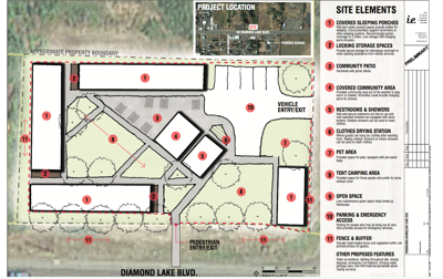 Plans of proposed homeless camp