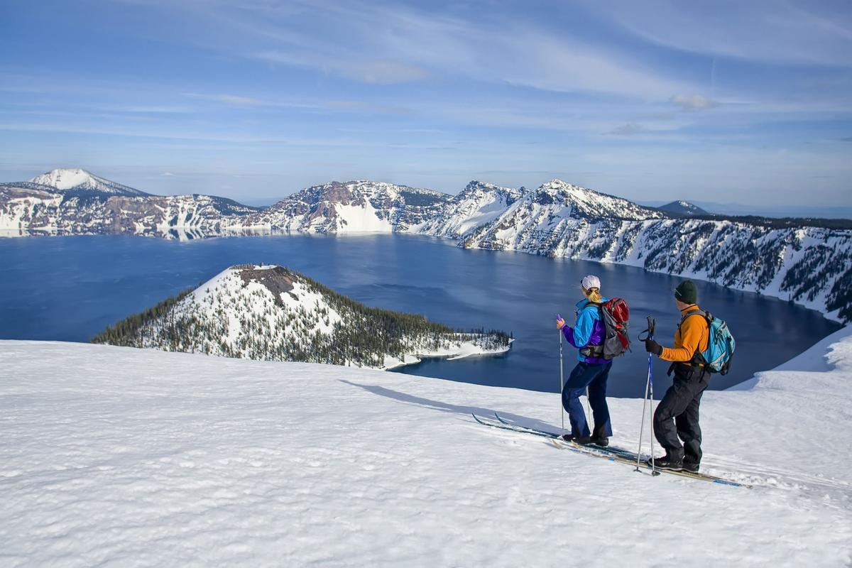 Nordic Skiing at Crater Lake National Park, Oregon