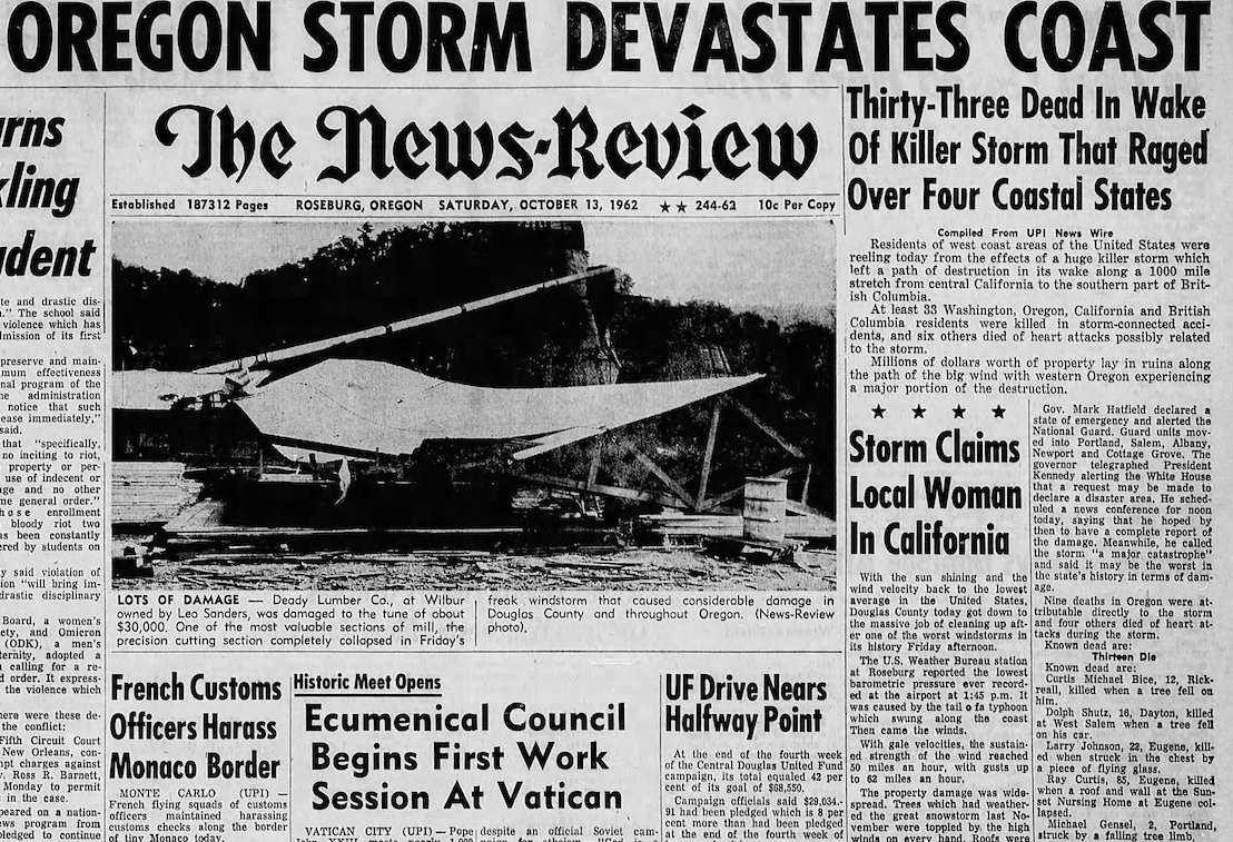 Oct. 13 1962 front page