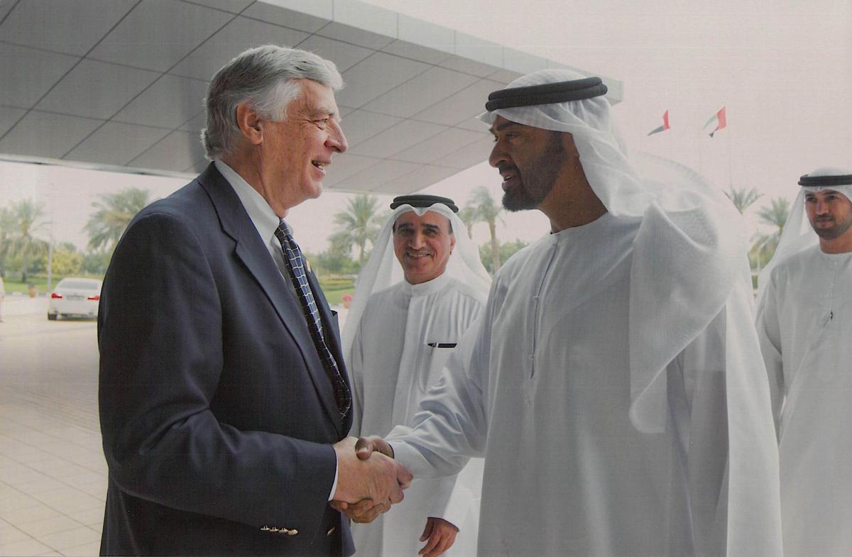 Dr. Dan Johnson with the Crown Prince of UAE