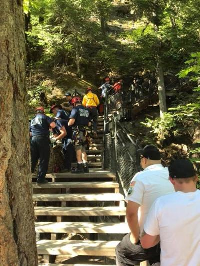 Search and Rescue team at Toketee Falls