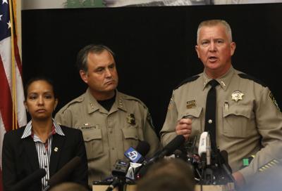 Douglas County Sheriff John Hanlin address media