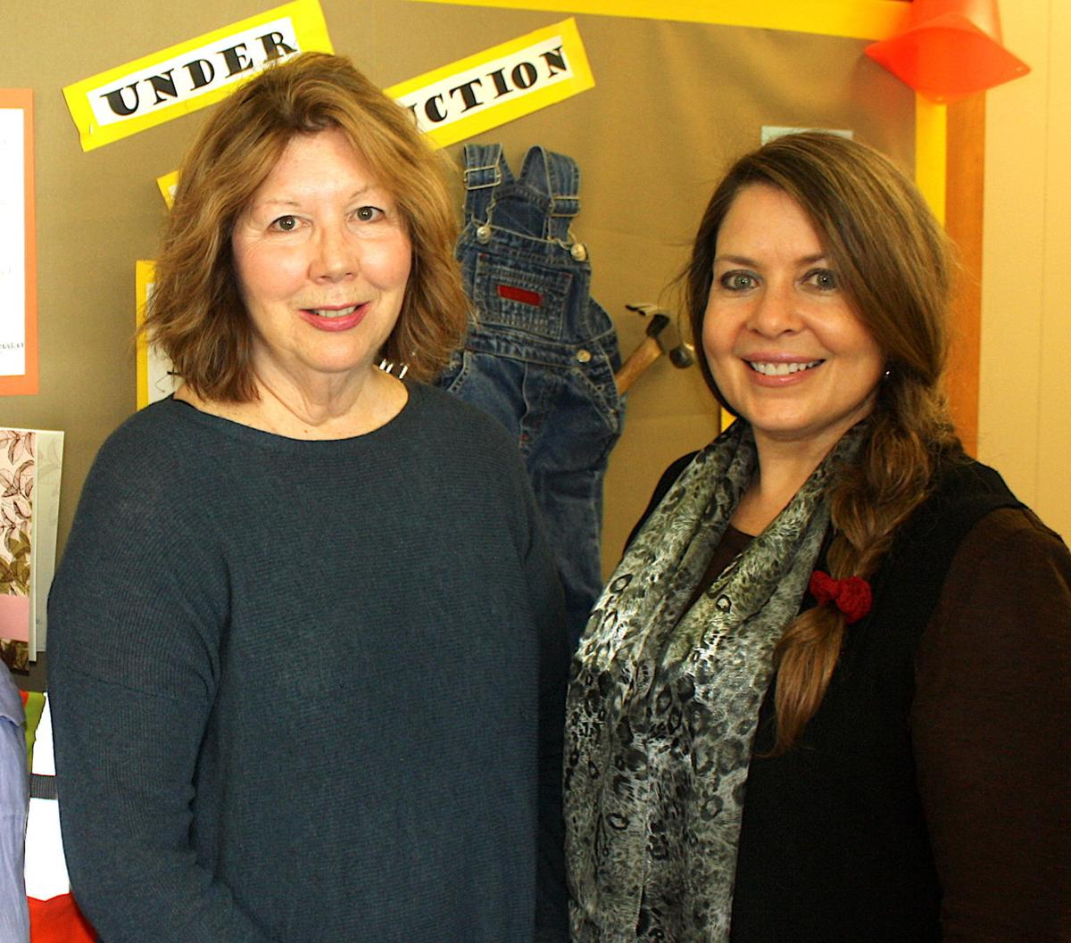 Susan Knight and Richelle Bryant at CASA offices in Roseburg