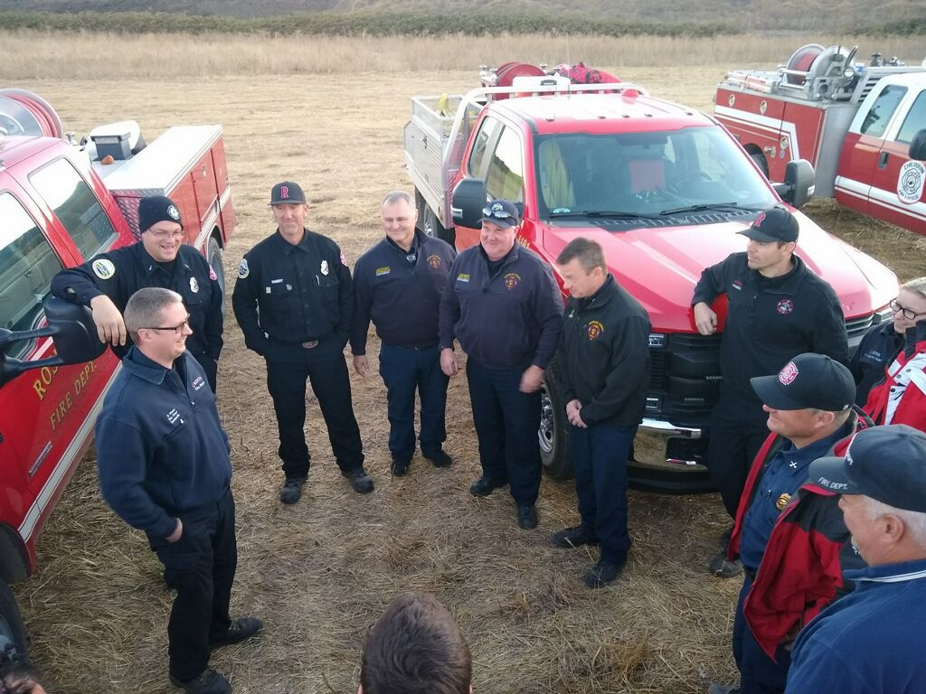 Douglas County firefighters at Burris Fire in northern California