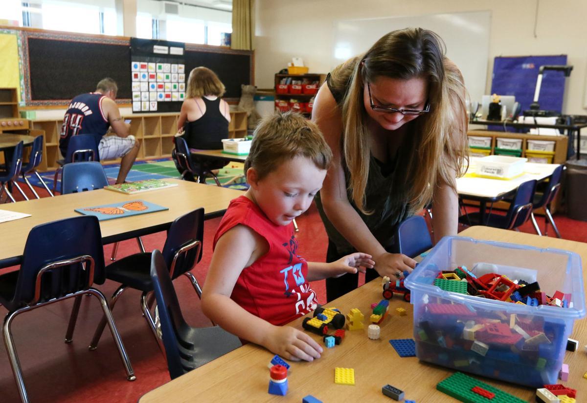 Hucrest Elementary School teachers meet their students
