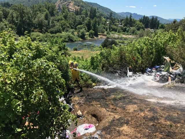 Reservoir Hill fire